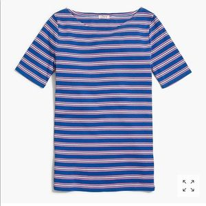 NWT J Crew Factory Blue and Pink Stripe T-shirt